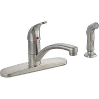 67534-1004 8 In. Kitchen Faucet 1 Handle With Spray - Brushed Nickel