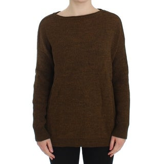 Dolce & Gabbana Green Knitted Pullover Sweater Top