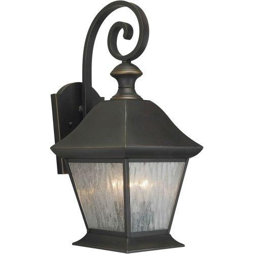 Forte Lighting 1046 03 3 Light Outdoor Wall Sconce Royal Bronze N