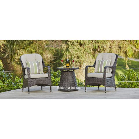 Outdoor Wicker Dining Chair Set of Two (Chair Only)
