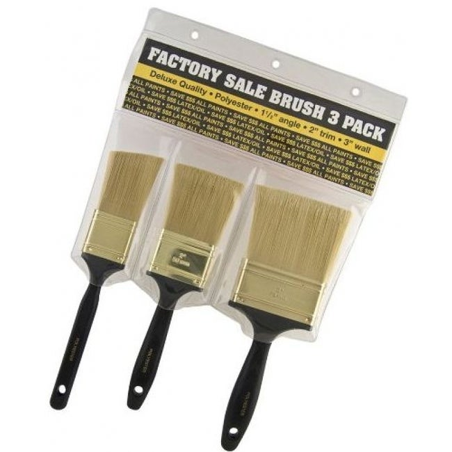 Wooster 3913 Factory Sale Brush, 3-Pack