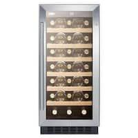 Summit SWC1535B 33 Bottle 15 Built-In Single Zone Wine Cooler
