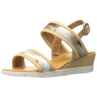 Kensie Girl Girls Metallic Wedge Sandals - 1 medium (b,m)