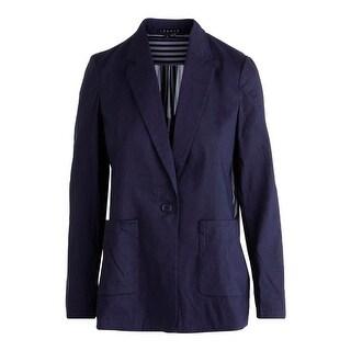 Theory Womens Shatrice Linen Silk Back Blazer - 2
