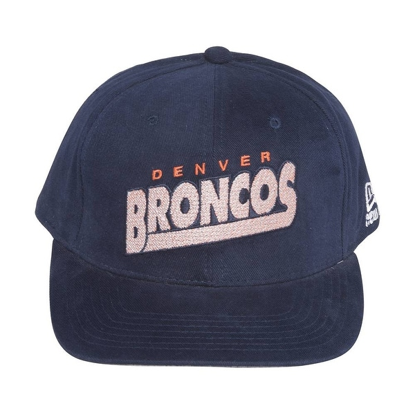 Shop New New Era Denver Broncos Cotton NFL Hat Cap - Navy Blue ... 06ad5accb41c