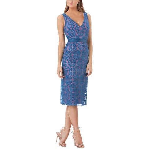 Kay Unger Lace Midi Dress