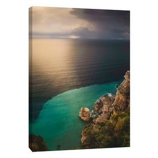 """PTM Images 9-108829  PTM Canvas Collection 10"""" x 8"""" - """"Salerno"""" Giclee Waves Art Print on Canvas"""