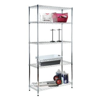 Tidy Living - 5 Tier Wire Shelf - Chrome