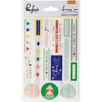 "Dream On Washi Stickers 4""X6"" 3/Pkg-"