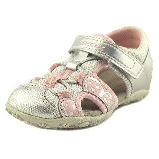 Geox Roxanne Toddler Open-Toe Synthetic Silver Sport Sandal