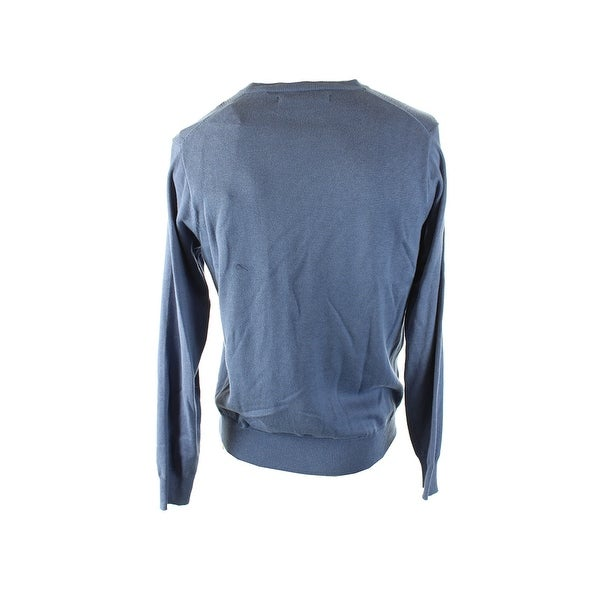 Shop Perry Ellis Persian Blue Diamond Knit Crew Neck Sweater