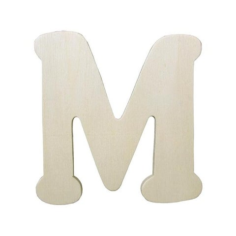 Darice Wood Shape Unfinished Letter 4.25 M