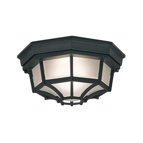 "Designers Fountain 2067-BK 1 Light 10"" Flush Mount Marine Style Lantern"