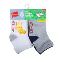 Hanes Infant Boys Ankle Socks P6 - Size - 2/3T - Color - Assorted