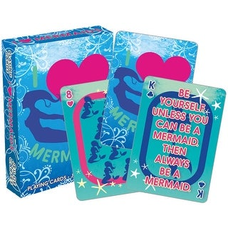 I Love Mermaids Licensed Playing Cards - Standard Poker Deck - MultiColor
