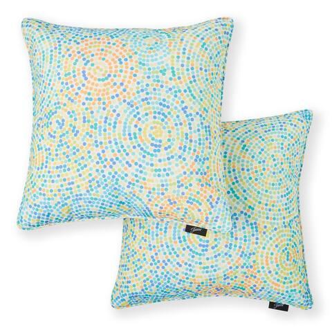"Fiesta Indoor/Outdoor Printed Decorative Pillows, 18""x18"", Set of 2"