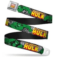 Marvel Comics Marvel Comics Logo Full Color The Incredible Hulk Action Seatbelt Belt
