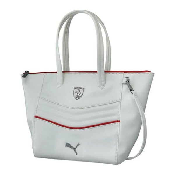 ce618c3bc2 Shop PUMA Women's Ferrari LS Handbag 073937 White - US Women's One Size  (Size None) - Free Shipping Today - Overstock - 11818027