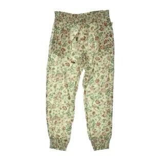 Denim & Supply Ralph Lauren Womens Crinkled Floral Print Jogger Pants