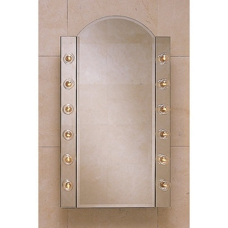 """Robern PLM2434BBA 23 1/4"""" Single Door Mirrored Medicine Cabinet with Arched Top"""