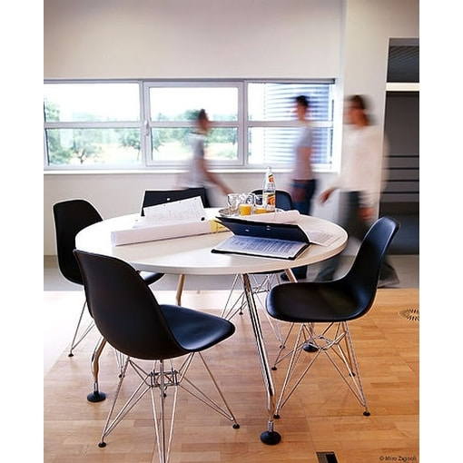 2xhome Modern Side Dining Chair Black With Wire Chrome Legs Base