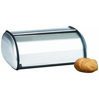 """Anchor Hocking Brushed Steel Bread Box - Euro Design Bread Box"""