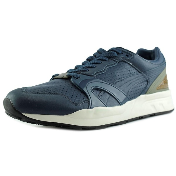 Puma Trinomic Xt2 Men Round Toe Canvas Blue Sneakers