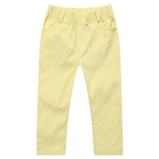 Richie House Little Girls Yellow Elastic Waist Leisure Pants 2-6
