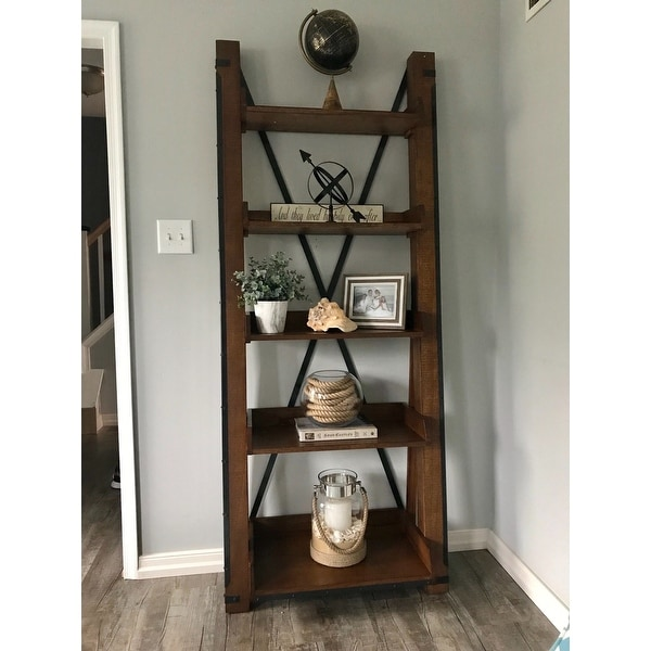 Open Shelf Ladder Bookcase On Free Shipping Today 10043371