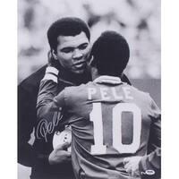 Pele Signed 16x20 With Muhammad Ali Photo PSA+Sports Integrity COA