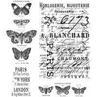 "Papillon - Tim Holtz Cling Rubber Stamp Set 7""X8.5"""