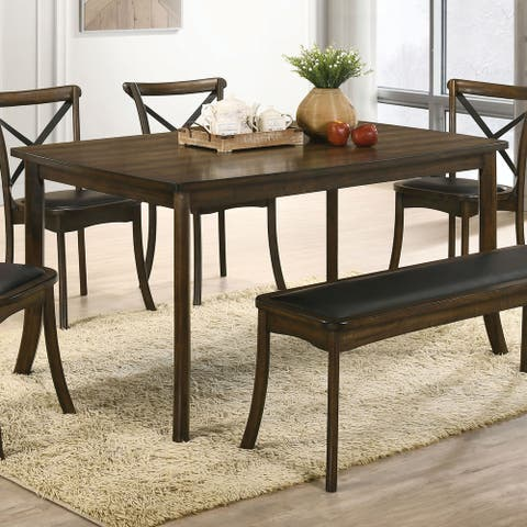 Furniture of America Dola Transitional Oak 59-inch Dining Table