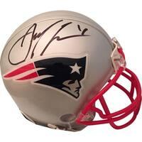 Julian Edelman Autographed New England Patriots Signed Football Mini Helmet PSA DNA COA