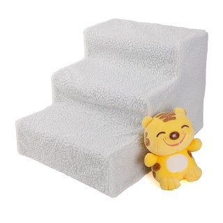 Link to Soft Portable Cat Dog 3 Steps Ramp Small Climb Pet Step Stairs White - 17.7 Similar Items in Dog Stairs & Ramps