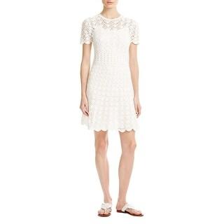 MICHAEL Michael Kors Womens Casual Dress Cotton Crochet