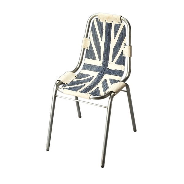 Modern Aluminum and Denim Canvas Side Chair - Assorted