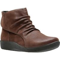 Clarks Women's Sillian Sway Bootie Brown Synthetic Nubuck