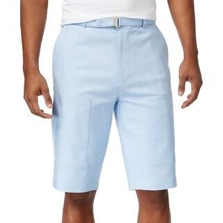 Sean John Blue Mens Size 34 Khakis Chinos Belted Flight Shorts