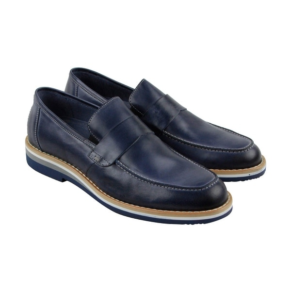 Kenneth Cole Reaction West Village Mens Blue Casual Dress Loafers Shoes