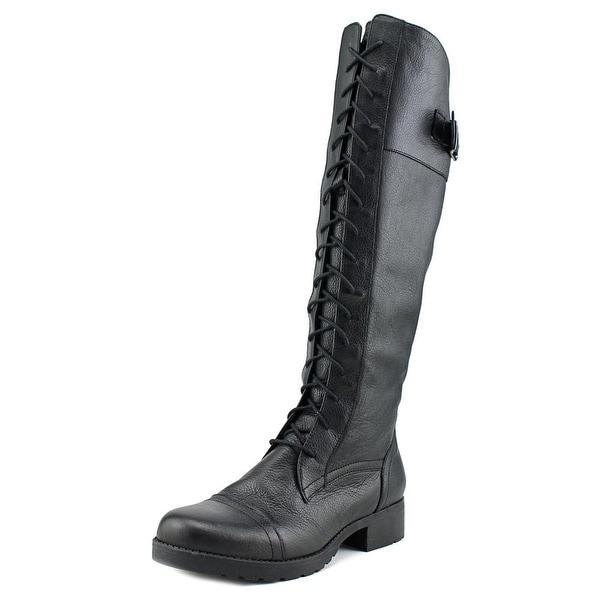 Aldo Whitcombe Women Round Toe Leather Black Knee High Boot