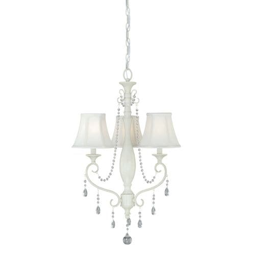 Vaxcel Lighting H0060 Bristol 3 Light Single Tier Chandelier with Fabric Shades - 19.5 Inches Wide
