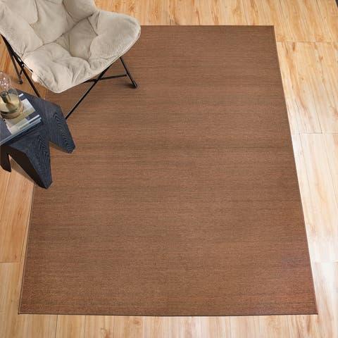 My Magic Carpet Machine Washable Area Rug Solid Espresso