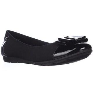 Anne Klein Aricia Bow Toe Ballet Flats, Black