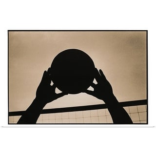 """""""Volleyball Silhouette"""" Poster Print"""
