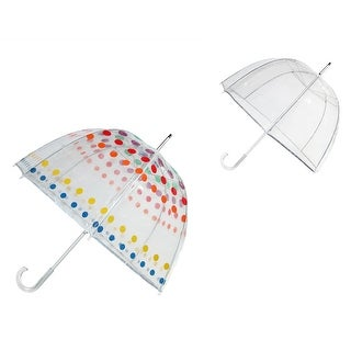 Totes Classic Clear Dome Bubble Umbrella (Pack of 2) - One size (2 options available)