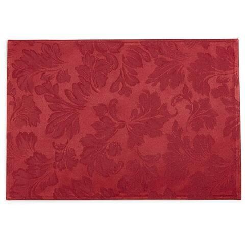 "Martha Stewart Collection Leaf Placemat 14"" x 19"" - Red - 14"" x 19"""