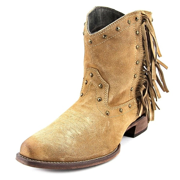 Roper Sassy Square Toe Suede Western Boot