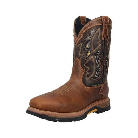 """Dan Post Work Boots Mens 11"""" Warrior Composite Brown"""