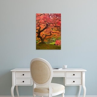 Easy Art Prints William Sutton's 'Japanese Maple In Fall Color' Premium Canvas Art