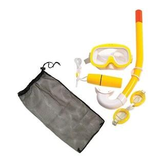Yellow Junior Combo Swimming Pool Snorkel Set